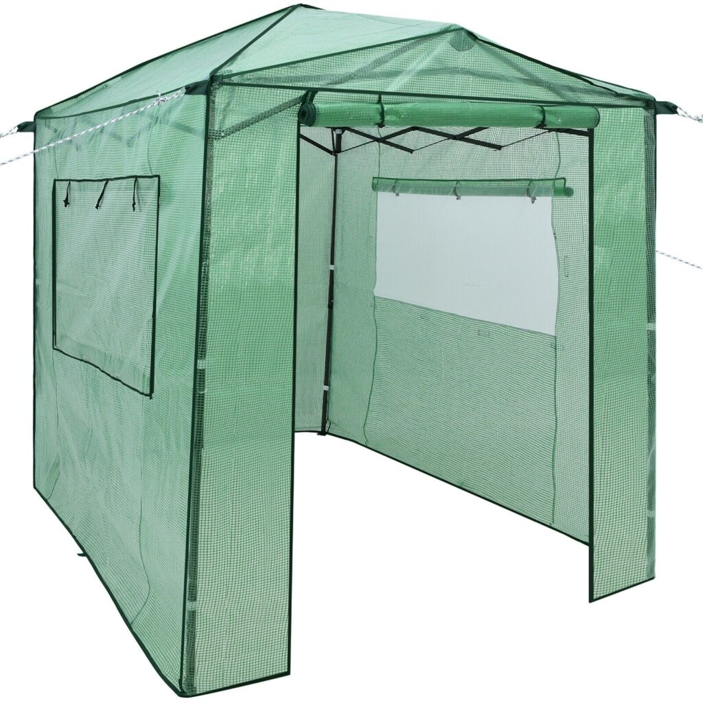 6 x 8 x 7 Portable Walk in Outdoor Plant Gardening Greenhouse with Window